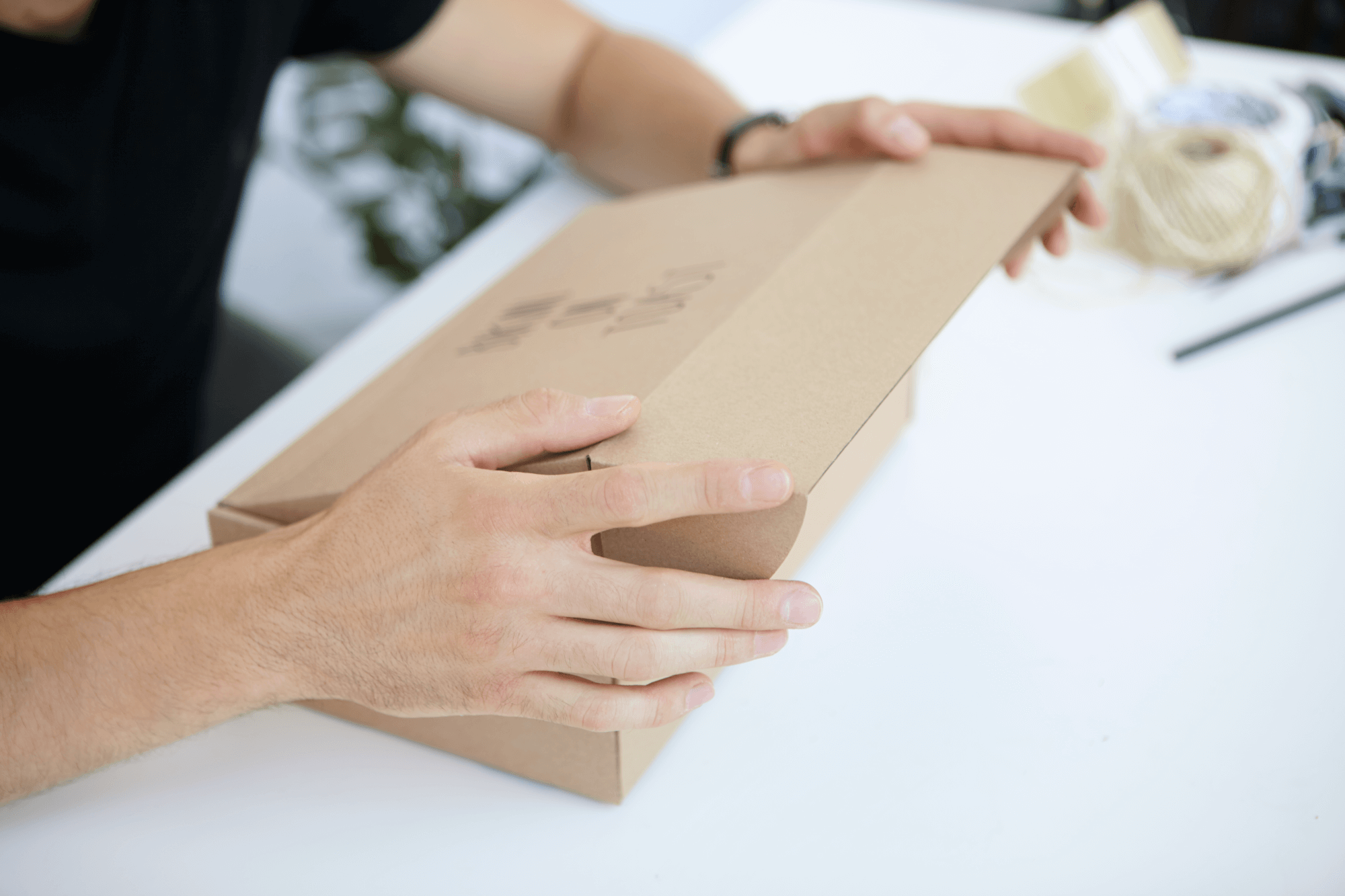 Imballaggio in cartone ecologico